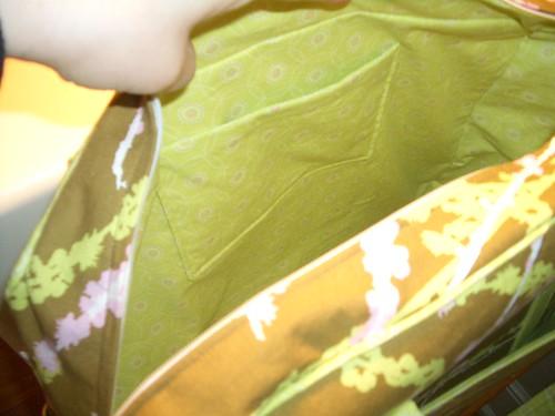 Amy butler weekender bag inside
