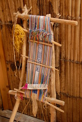 Chachi Cayapas Loom (Teyacapan) Tags: costa ecuador cloth chachi museums weaving fabrics looms tejidos rainforests telar cuicocha cayapa