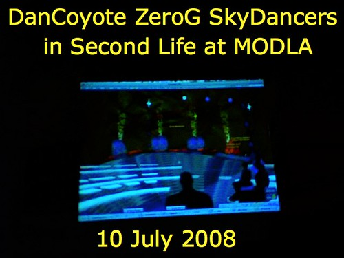 DanCoyote ZeroG SkyDancers at MODLA in Second Life on 10 July 2008