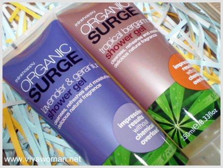 Organic Surge Shower Gels