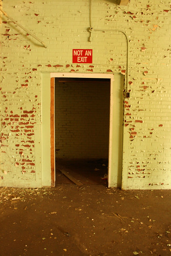 Not An Exit, Abandoned Textile Mill Warehouse - IMG_4609