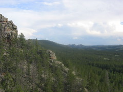 View to SW on the top of Slab routes on Brown's Landing