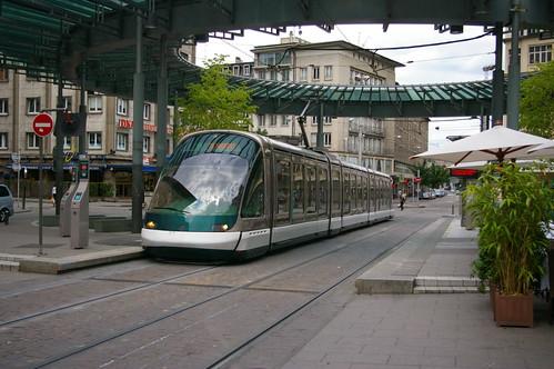A tram in Strasbourg
