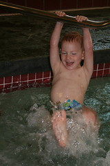 Kade making a splash