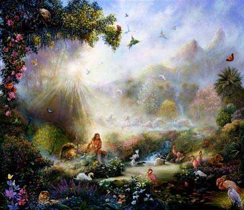 Adão no Jardim do éden (2)  Imagens Bíblicas