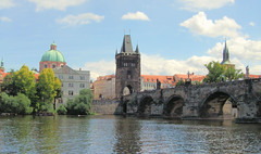 The Charles Bridge in summer