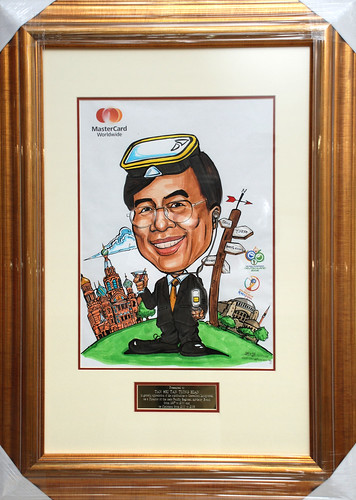 Caricature of TST Mastercard colour with frame and inscription