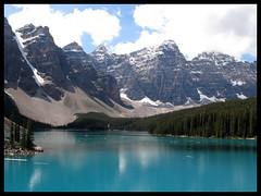 Moraine Lake (Dervman) Tags: trees mountains reflection water morainelake
