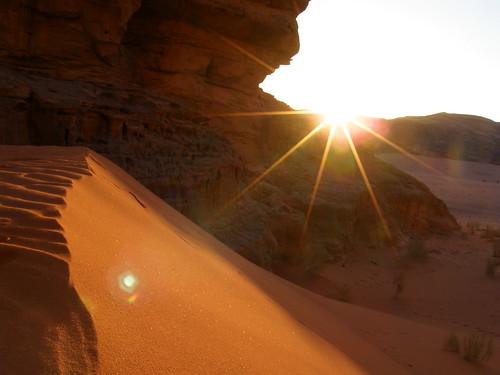 Amanecer en Wadi Rum