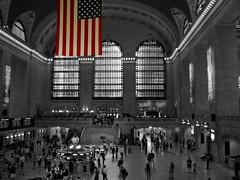Something Different (biluu_72) Tags: new york nyc white black station train stars stripes central grand terminal treni