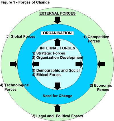 Determining Forces of Organizational Change