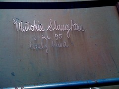 Matokie Slaughter (TRUE 2 DEATH) Tags: railroad streetart art train graffiti tag graf meta trains railcar ms boxcar anaheim railways hobo railfan freight margaretkilgallen thr mslaughter lonelyhearts moniker matokie hobotag hobomoniker benching 32695 matokieslaughter lonelyheart ipone