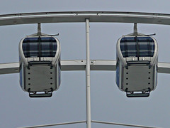 Pods (PeterEdin) Tags: york england wheel metal lumix steel cab yorkshire spokes capsule views vista gondola rim northyorkshire pods norwichunion cityofyork panasoniclumix yorkshirewheel dmctz3 tz3 panasonictz3 panasonicdmctz3 worldtouristattractionsltd yorkshireandhumbershire