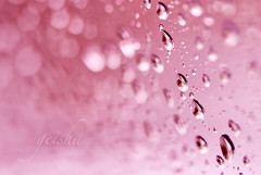 every drop brings thoughts of you... (~ geisha ~) Tags: pink window water rain drops hbw