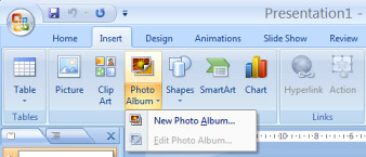 PowerPoint photo album