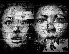 faces in the wall (Gabain) Tags: blackandwhite berlin film face wall kreuzberg 50mm minolta spooky x700 artcafe wrangelkiez adox artlibre filmisnotdeaditjustsmellsfunny onephotoweeklycontest globalworldawards artcafedomidoexhibitionscomein truthillusion