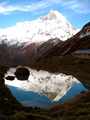 Reflection of the day!!! (DanMan2008) Tags: travel nepal lake reflection trekking canon asia tamron annapurna annapurnabasecamp 2875f28 5photosaday macchapuchre colorphotoaward 70200f4isusm canon40d