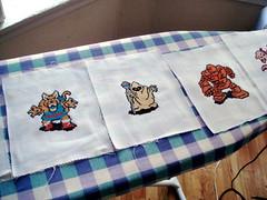 Ironing (benjibot) Tags: wolf crossstitch crafts videogames nes dragonwarrior golem ironing magician wyvern