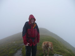 Stewart and Lily at the summit of Ladhar Bheinn (AndrewGrant) Tags: knoydart bheinn ladhar