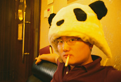 smoking panda (stane) Tags: portrait cute panda smoking ktv defocus xigua