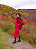 Lady in Red (jimf_29605) Tags: red fallleaves color fashion posing blueridgeparkway brightcolor prettylady gmilf