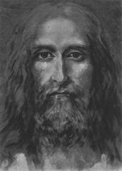 Antlitz Christi nach dem Grabtuch von Turin