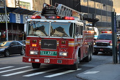 FDNY Ladder 110 Tillary Tigers (Triborough) Tags: nyc newyorkcity ny newyork sign brooklyn streetsign 110 firetruck roadsign ladder fdny seagrave downtownbrooklyn laddertruck kingscounty newyorkcityfiredepartment ladder110 tillarytigers
