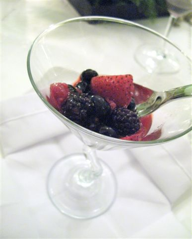berry assortment with sake and Grand Marnier