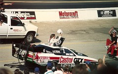 1991 NHRA Winston World Finals (ATOMIC Hot Links) Tags: wild art car metal speed reflections big shine power garage flames low traction