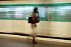 Relative Motion (WanderWorks) Tags: woman blur paris france station speed train underground subway de shoe waiting metro low tube fast charles passengers purse shutter gaulle francia etoile dsc3939vxhg