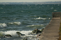 waving at ya :-) (Sharon's Shotz) Tags: blue ontario canada water rocks waves jetty kingston lakeontario choppy roughwater