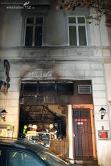 Kleinbrand greift auf Kneipe über Albrechtstraße 08.11.08