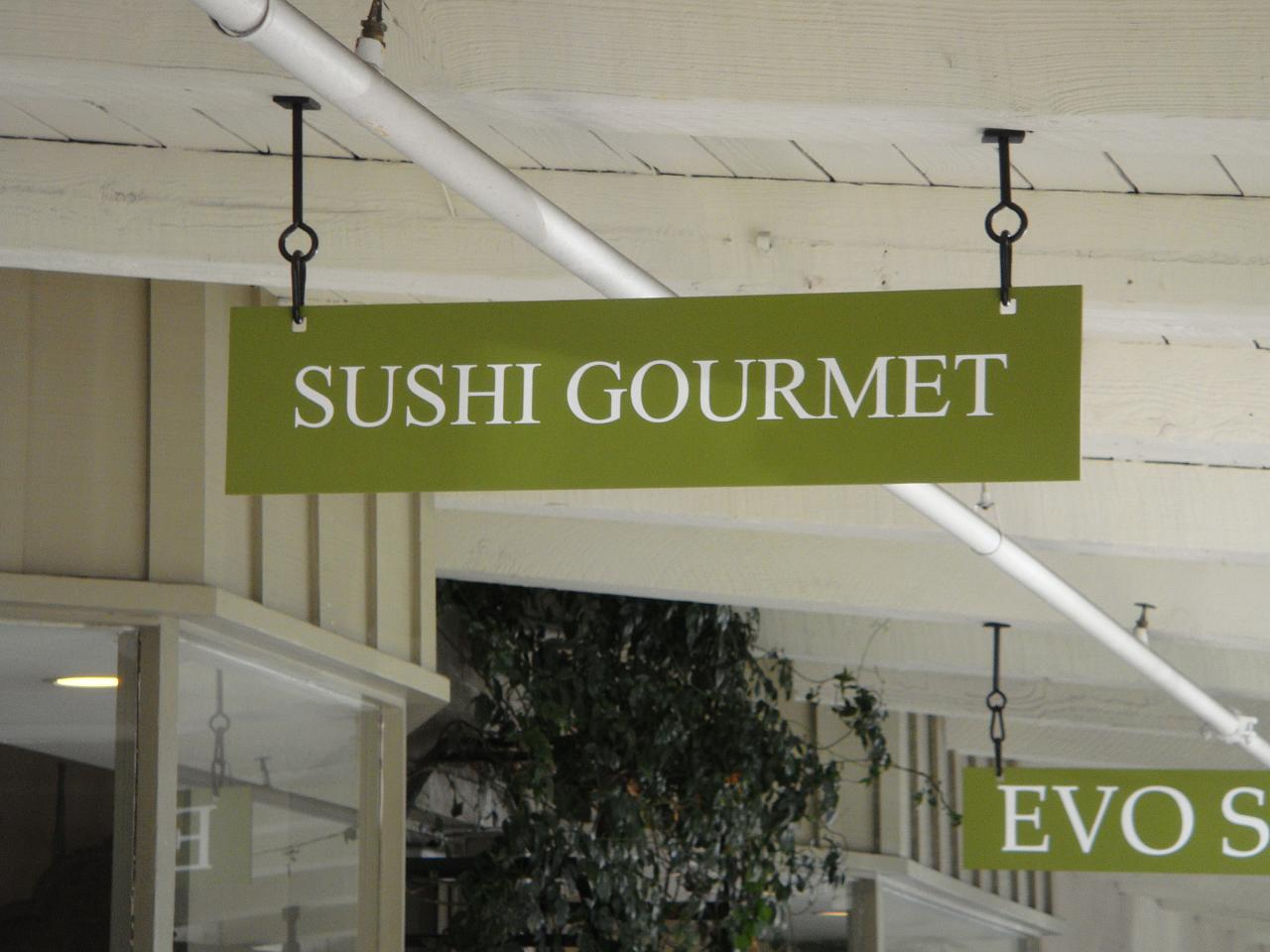 Sushi Gourmet Sign