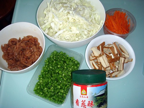 Popiah ingredients
