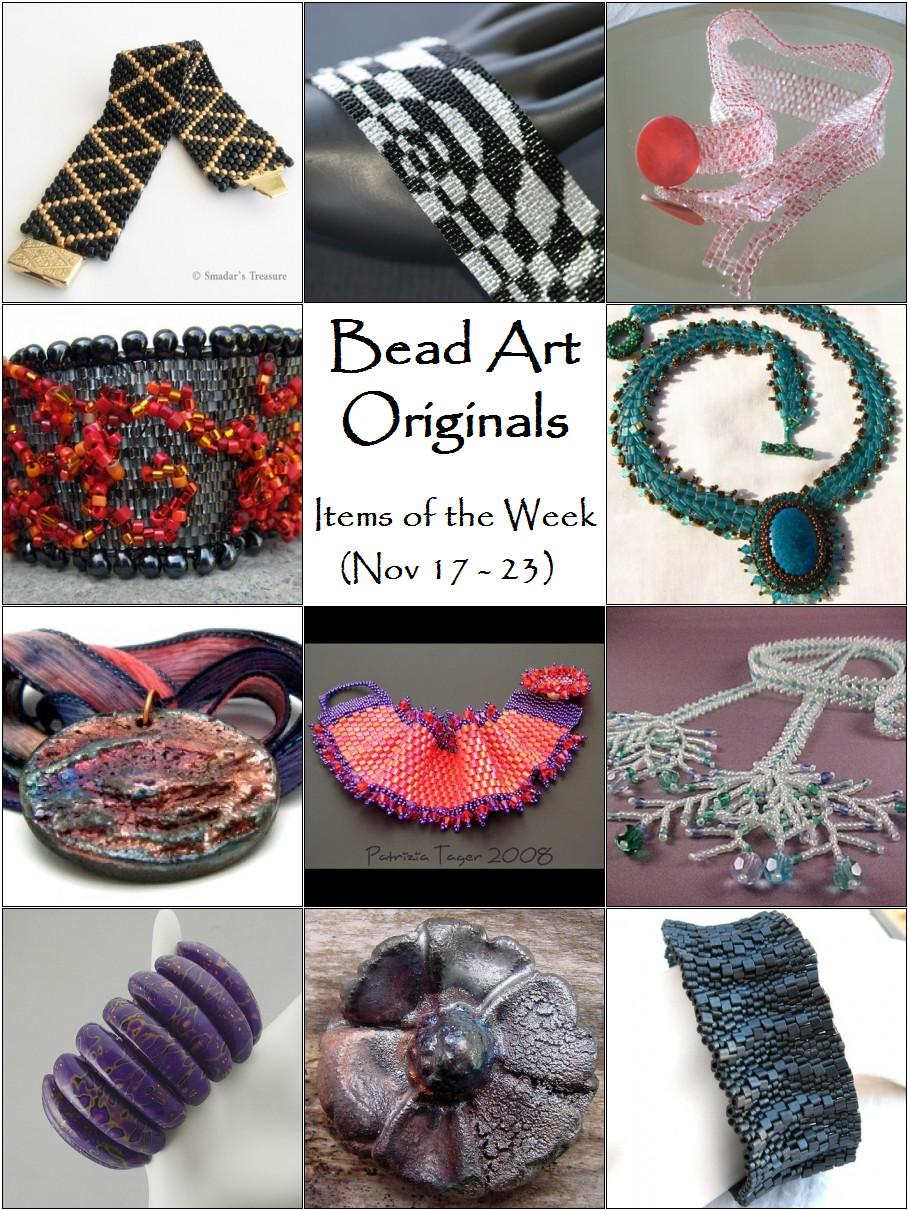 Bead Art Originals Items of the Week (Nov 17-23)