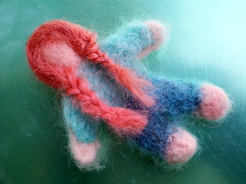 Needlefelted Girl (three)