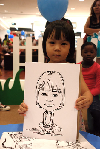 caricature live sketching for West Coast Plaza day 2 - 17
