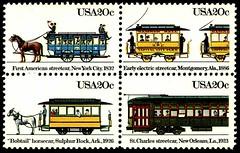 Streetcar stamps