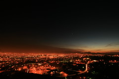 orange glow (tgagephoto) Tags: longexposure blue sunset sky canon smog glow texas pollution elpaso 5d copyrighted scenicdrive inversionlayer ihveissues thesuncity tomgagephotography fromthisvantagepointyouseetwocountriesthreestatesandtwocities sunsetslikenoplaceelse tgage
