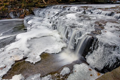 Lower Bozen Kill Falls (no3rdw) Tags: snow ice nature creek forest waterfall woods smooth flowing hdr sanctuary christman enfuse