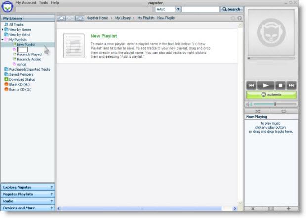 Transfer Napster playlist to iPod