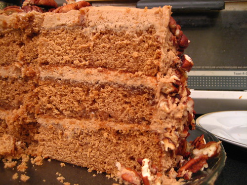 Name of Cake: Martha's Butterscotch Pecan Cake