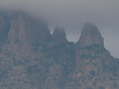 """Finger Rock"" shrouded in clouds (Dan_DC) Tags: arizona mountain storm ecology weather clouds outdoors desert image tucson stock scenic rocky license environment jagged habitat climate rugged rf rockformations imagebank catalinamountains fingerrock santacatalinamountains royaltyfree pimacounty wildbeauty"