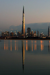 Burj Khalifa , Dubai (Ahmad Al Zarouni) Tags: reflection water canon eos construction dubai side under uae khalifa 5d    burj skycraper            5photosaday