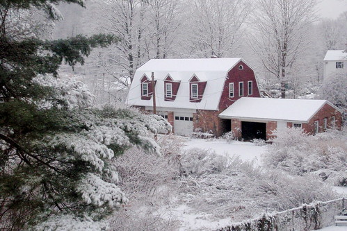 Snow in Shelton and Trumbull (December 7, 2008)