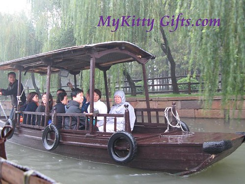 Hello Kitty's View of Tour Boat in Wu Zhen