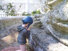 Praying by the Buddah (Anti_Charger) Tags: cute pray praying adorable shy buddah hinata hyuga hyuuga hinatahyuuga hinatahyuga