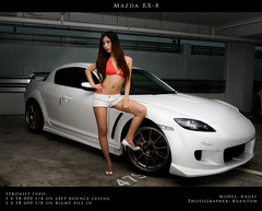 Mazda RX8 - Angel #3 (kuantoh) Tags: sexy sports angel photoshop model nikon pretty babe turbo mazda rx8 poses cls d300 creativelightingsystem strobist
