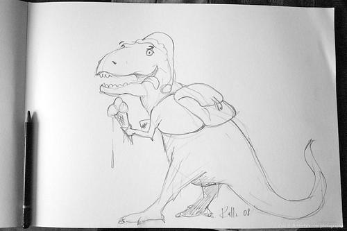 dinosaur - teckning