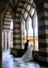 Wedding in Amalfi , Italy  Fairy tales come true (moonjazz) Tags: wedding italy white love architecture groom bride perfect arch veil floor amor stripes unity religion rich culture marriage tourist romance special celebration ritual gown storybook tux newlywed amalfi milestone wealth almalfi mywinners